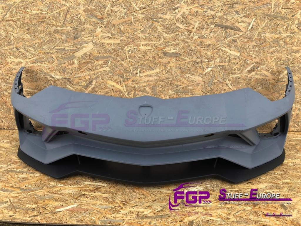 OEM original Lamborghini Aventador S LP740 Front bumper incl lower spoiler with pdc 470807103L