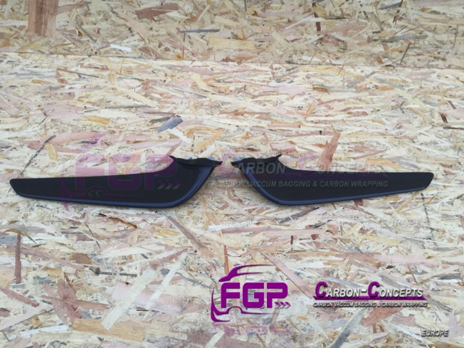 OEM Original Ferrari 458 front bumper carbon wings set