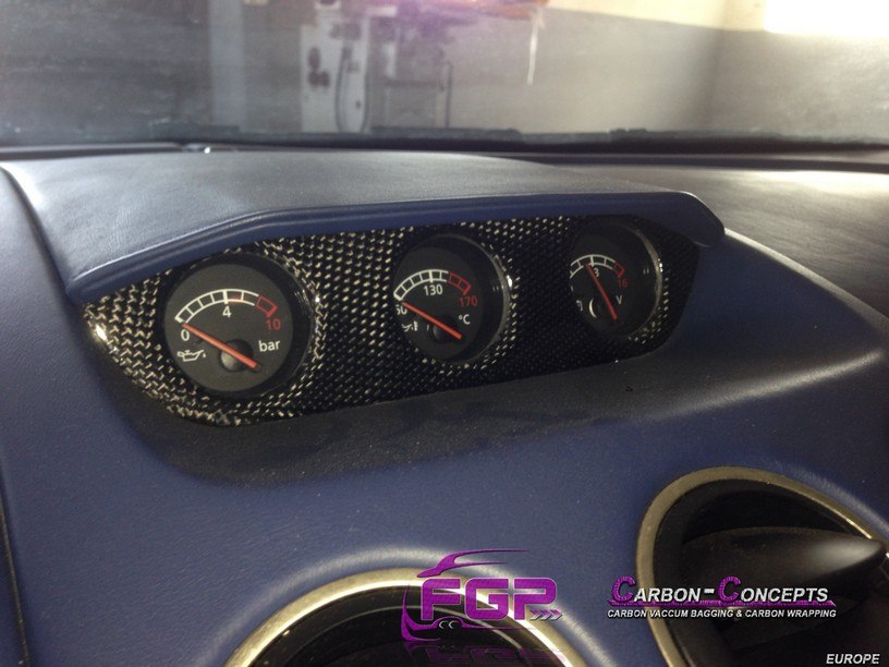 NEW OEM Lamborghini Gallardo Carbon centre instruments