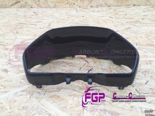 Real Carbon clock surround for Lamborghini Aventador  PrintEmail