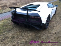 LP750 SV rear bumper set with wing for Lamborghini Aventador 470807511T + 470807568